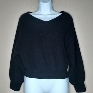 Free People 100% cashmere cropped sweater